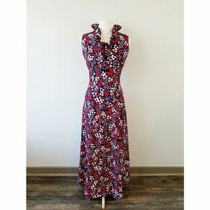 Vintage 1960's Floral Maxi Dress